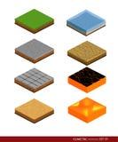 Isometric materiał dla gry Tło dla gry Materiały i tekstury dla gry Obrazy Royalty Free