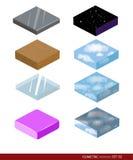 Isometric materiał dla gry Tło dla gry Materiały i tekstury dla gry Zdjęcie Stock