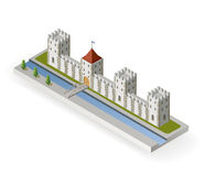 Isometric medieval castle Stock Image