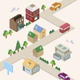 Isometric miasteczko Fotografia Stock