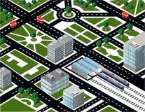 Isometric miasto ilustracji