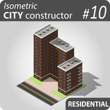 Isometric miasto konstruktor - 10 Zdjęcia Stock