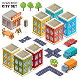 Isometric miasto set Fotografia Stock