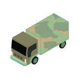 Isometric military truck Royalty Free Stock Photos