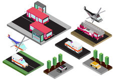 Isometric model of various cars Stock Photography