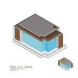 Isometric moderm home.  illustrations Stock Photography