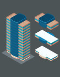 Isometric modern building Royalty Free Stock Photos