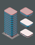 Isometric modern building Royalty Free Stock Image