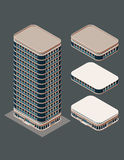 Isometric modern building Royalty Free Stock Photography