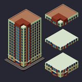 Isometric modern building Royalty Free Stock Images