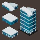 Isometric modern building royalty free illustration