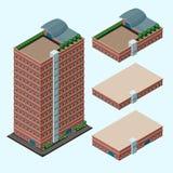 Isometric modern building Stock Photos