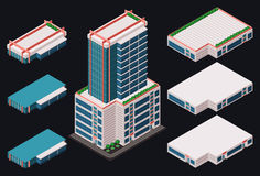 Isometric modern building Stock Photo