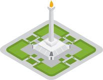 Isometric monas monument in jakarta Royalty Free Stock Photos