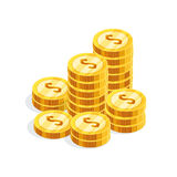 Isometric money isolated on white background. Royalty Free Stock Image