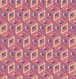 Isometric multicolour cube pattern. each detail in separate layer. Royalty Free Stock Image