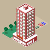 Isometric multistory building Stock Images