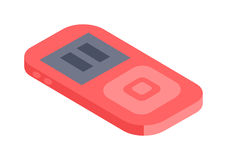 Isometric music player 3d vector icon for web and mobile devices. Stock Photo