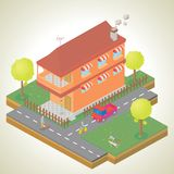 Isometric of my house environment Stock Image