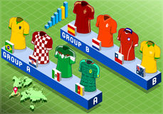 Isometric Nations Groups for Soccer World Cup Royalty Free Stock Photo