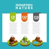 isometric nature design Royalty Free Stock Photo