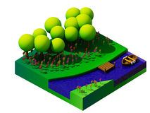 Isometric nature and landscape Royalty Free Stock Photo