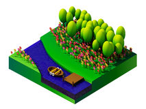Isometric nature and landscape Royalty Free Stock Photos