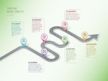 Isometric navigation map infographic 6 steps timeline concept.   Royalty Free Stock Photos