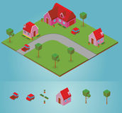 Isometric neighborhood Royalty Free Stock Photos