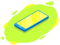 Isometric nowożytny telefon Egzamin próbny w górę wiszącej ozdoby royalty ilustracja