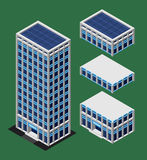 Isometric nowożytny budynek Obraz Stock