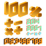 Isometric number Stock Images