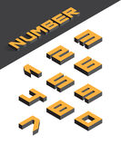 Isometric numbers. Collection of the isometric numbers. Vector illustration Stock Photo
