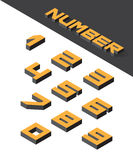 Isometric numbers Royalty Free Stock Photography