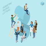 Isometric numbers with people Royalty Free Stock Photo