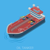 Isometric ocean oil tanker barge. Oil petroleum transportation ocean sea tanker flat 3d web isometric infographic concept vector. Gas power energy industry vector illustration