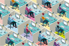 Isometric Office Cubicles Stock Image