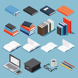 Isometric office equipment Stock Photos