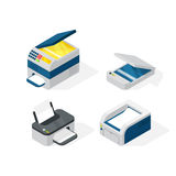 Isometric office equipment vector Stock Images