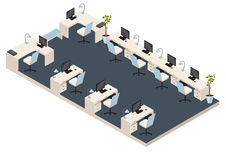Isometric office room Stock Photography
