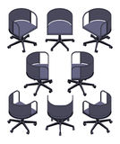 Isometric office spinning chair Stock Photos