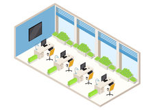 Isometric office Stock Images