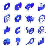 Isometric ogólnospołeczny marketing Przylatujący i wyjeżdżające marketing, pieniądze magnes jak ikona i 3d społeczności sieci wek ilustracja wektor