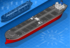 Isometric oil tanker in front view Royalty Free Stock Images