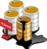 Isometric Oil Tanks Stock Image