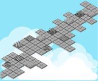 Isometric oklepiec dla gry Oklepowie ustawiający Set dla gry Gra krajobraz Zdjęcie Stock