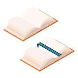 Isometric opened book Royalty Free Stock Photos