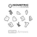 Isometric outline icons set 48 Stock Image