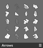 Isometric outline icons set. Isometric outline icons, 3D pictograms vector set - Arrows symbol collection Royalty Free Stock Photo