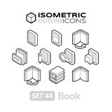 Isometric outline icons set 44 Stock Photography